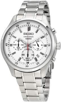 Seiko White Dial Men's Chronograph Watch