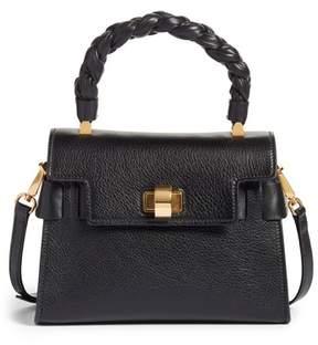 Miu Miu Madras Leather Top Handle Satchel - Black
