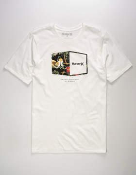 Hurley Plaque White Mens T-Shirt