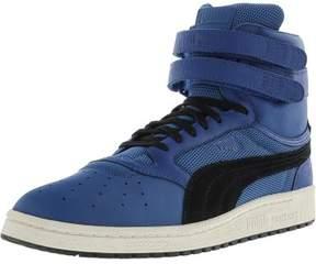 Puma Men's Sky Ii Hi Color Blocked Leather Lapis Blue / Black Ankle-High Fashion Sneaker - 13M
