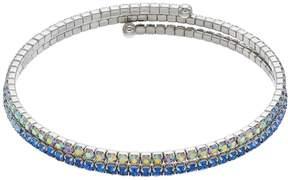 Brilliance+ Brilliance Blue Ombre Coil Bracelet with Swarovski Crystals