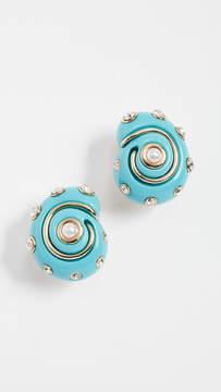 Kenneth Jay Lane Shell Earrings