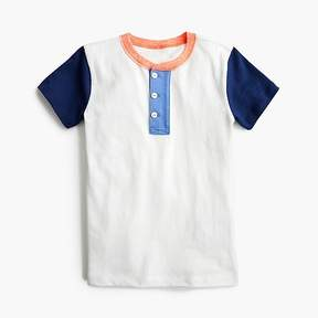 J.Crew Boys' short-sleeve colorblocked henley shirt
