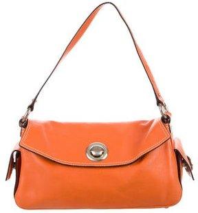 Marc Jacobs Leather Shoulder Bag - ORANGE - STYLE