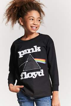 Forever 21 Girls Pink Floyd Graphic Top (Kids)