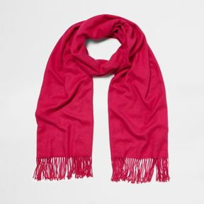 River Island Womens Bright pink blanket scarf