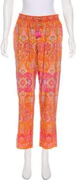 Calypso Silk High-Rise Pants