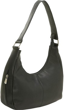 Le Donne Leather Side Zip Shoulder Bag