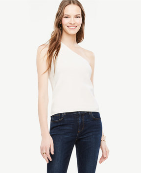 Ann Taylor One Shoulder Top