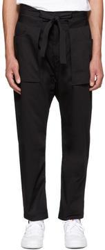 Diesel Black Gold Black Kimono Trousers