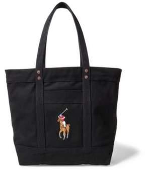 Ralph Lauren Canvas Big Pony Tote Black One Size