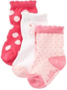 Robeez Kids' 3-Pk Little Lola Sock Set