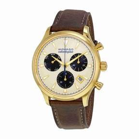 Movado Heritage Chronograph Parchment Dial Men's Watch 3650007