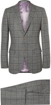 Gucci Grey Slim-Fit Prince Of Wales Checked Wool Suit