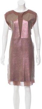 Bottega Veneta Metallic Leather Dress