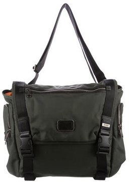 Tumi Leather-Trimmed Nylon Messenger