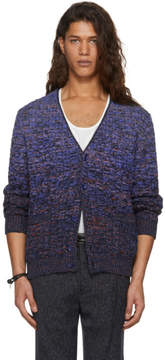 Missoni Blue Degrade Cable Knit Cardigan