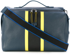 Furla striped messenger bag