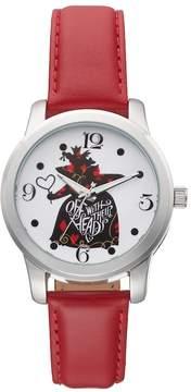 Disney Disney's Alice in Wonderland Off With Their Heads Women's Leather Watch