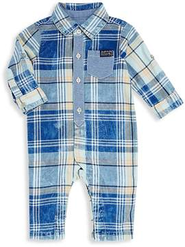 7 For All Mankind Baby Boy's Collared Denim Coverall - Blue Multi, Size 3-6 months