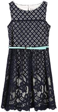 Speechless Girls 7-16 Mixed-Lace Skater Dress