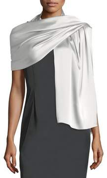 St. John Liquid Satin Wrap, Gray