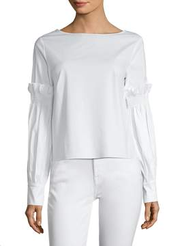 Ava & Aiden Women's Blouson Sleeve Top