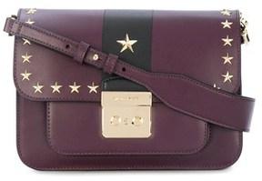 Michael Kors Women's Black/burgundy Leather Shoulder Bag. - BLACK - STYLE