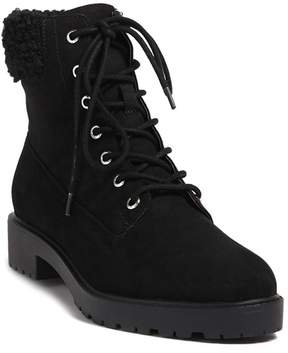 Forever 21 Faux Shearling Trim Ankle Boots