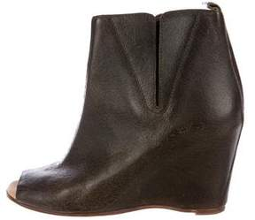 MM6 MAISON MARGIELA MM6 by Maison Martin Margiela Peep-Toe Wedge Booties