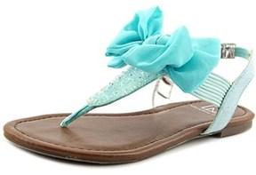 Material Girl Swan Open Toe Canvas Thong Sandal.