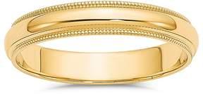 Bloomingdale's Men's 4mm Milgrain Half Round Wedding Band 14K Yellow Gold - 100% Exclusive