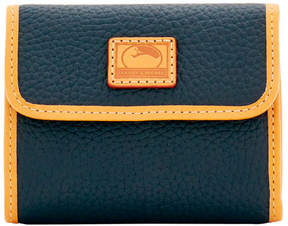 Dooney & Bourke Patterson Leather Small Flap Credit Card Wallet - BLACK - STYLE
