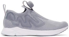 Reebok Classics Grey Pump Supreme Tape Sneakers