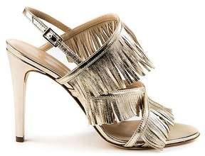 Formentini Perla Allegra Fringe Trim Angle Strap Sandal