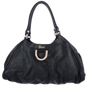 Gucci Large D Gold Hobo - BLACK - STYLE