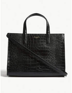 Kurt Geiger London Croc embossed leather tote