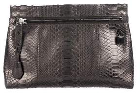 Tom Ford Alix Medium Python Zip & Padlock Clutch