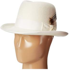 Stacy Adams Homburg Wool Felt Hat w/ Grosgrain Band Caps