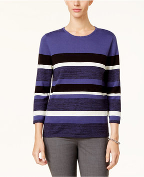 Alfred Dunner Striped Sweater