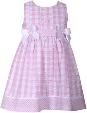 Bonnie Jean Toddler Girl Checked Seersucker Dress