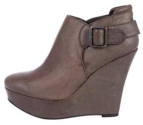 Joe's Jeans Leather Wedge Ankle Boots