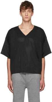 Fear Of God Black Manuel Football Jersey T-Shirt