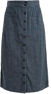 Ace&Jig Bo high-rise striped cotton skirt