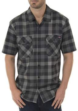 Dickies Genuine Big Men's Performance Plaid Flex Pen Pocket Shirt