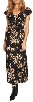 Amuse Society Women's Alana Floral Lace-Up Dress