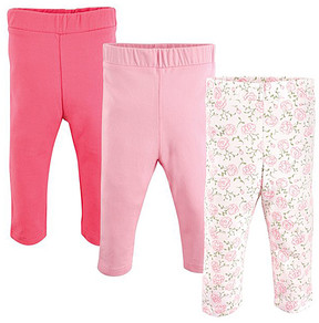 Luvable Friends Pink & White Floral Leggings Set - Newborn, Infant, Toddler & Girls