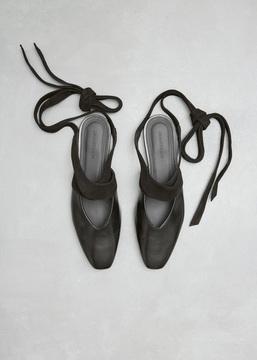 J.W.Anderson Black Open Flat Ballerina