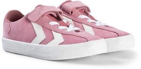 Hummel Pink Foxglove Diamant Junior Trainers