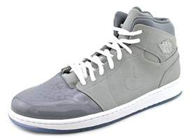 Jordan 1 Retro '95 Men Round Toe Leather Gray Basketball Shoe.